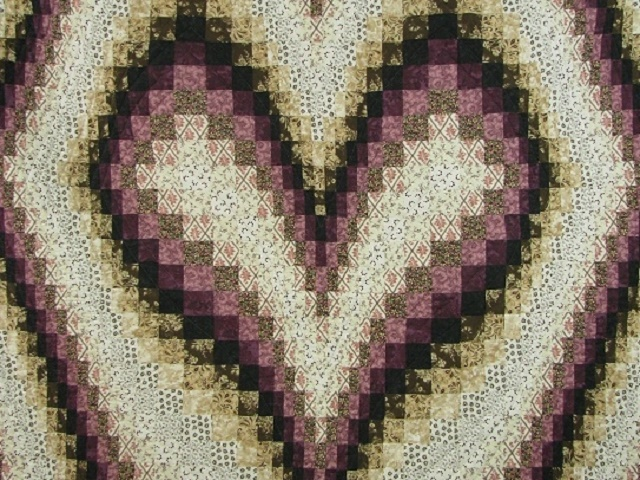 Plum and Beige Bargello Heart Photo 8