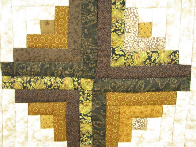 Earth tones Log Cabin Splendor Quilt Photo 7