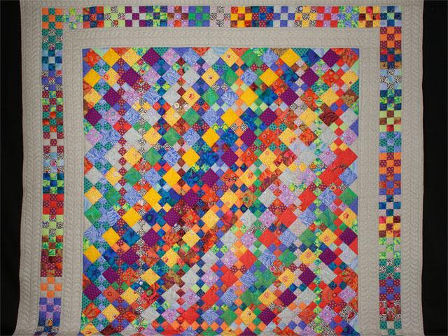 Diagonal Madness using  Kaffe Fassett Designer Fabrics Photo 2