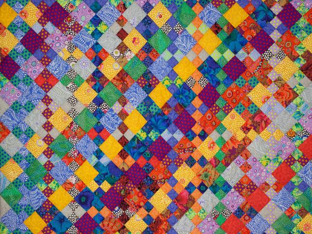 Diagonal Madness using  Kaffe Fassett Designer Fabrics Photo 3
