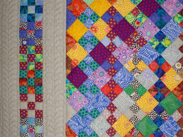 Diagonal Madness using  Kaffe Fassett Designer Fabrics Photo 4