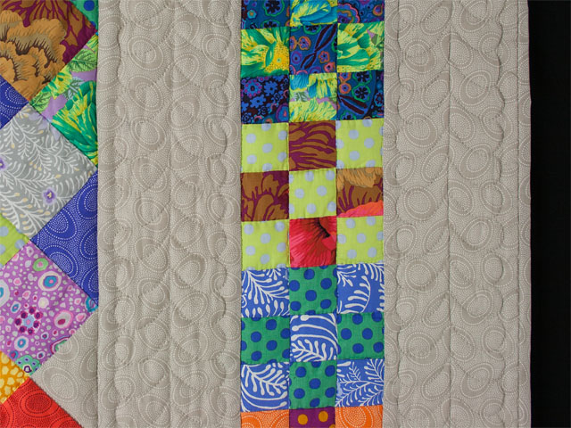 Diagonal Madness using  Kaffe Fassett Designer Fabrics Photo 5