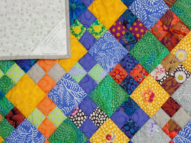 Diagonal Madness using  Kaffe Fassett Designer Fabrics Photo 6