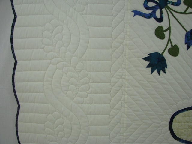 Teal Lotus Blossom Bouquet Quilt Photo 4
