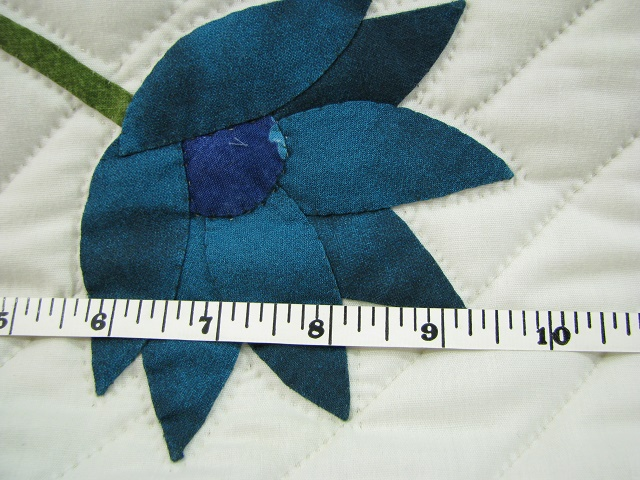 Teal Lotus Blossom Bouquet Quilt Photo 5