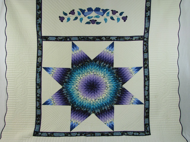 Purple and Teal Lone Star Quilt Photo 2