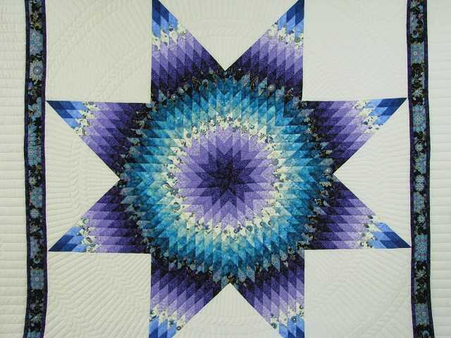 Purple and Teal Lone Star Quilt Photo 3