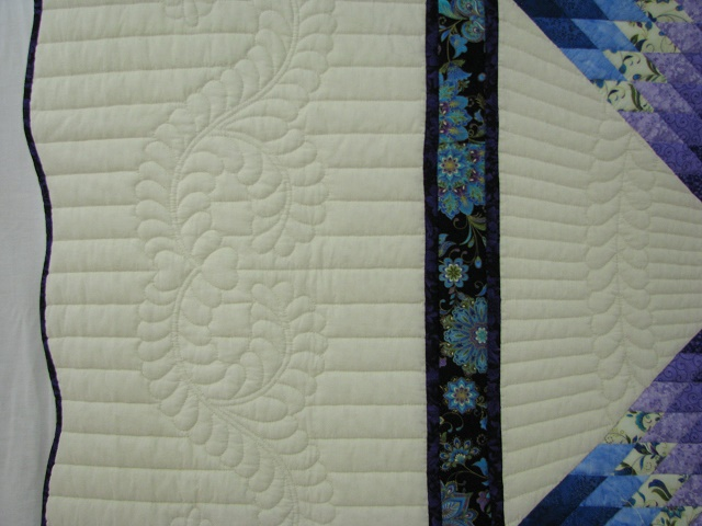 Purple and Teal Lone Star Quilt Photo 4
