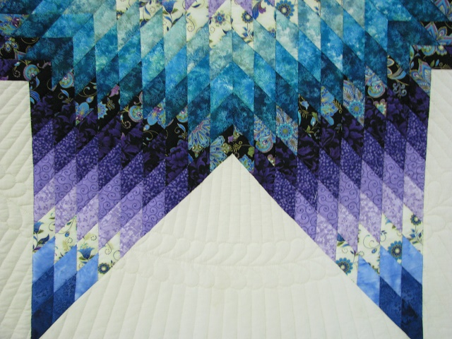 Purple and Teal Lone Star Quilt Photo 5