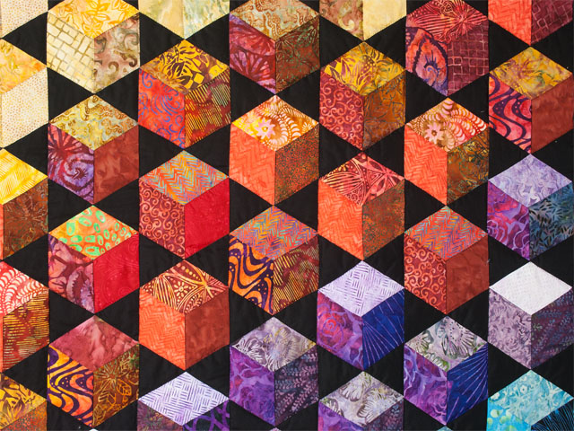 Sunrise Sunset Tumbling Blocks