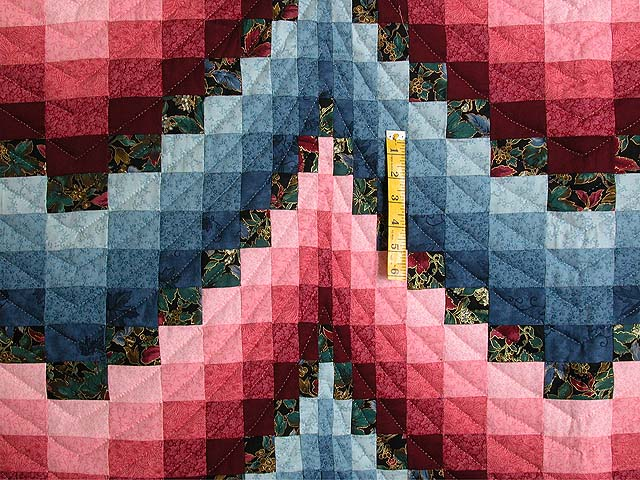 Rose and Blue Bargello Quilt Photo 4