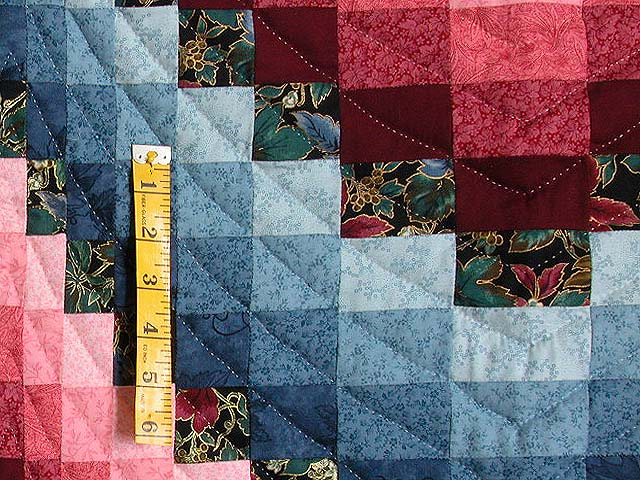 Rose and Blue Bargello Quilt Photo 5