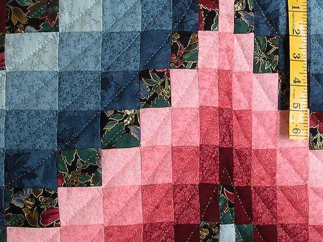 Rose and Blue Bargello Quilt Photo 6