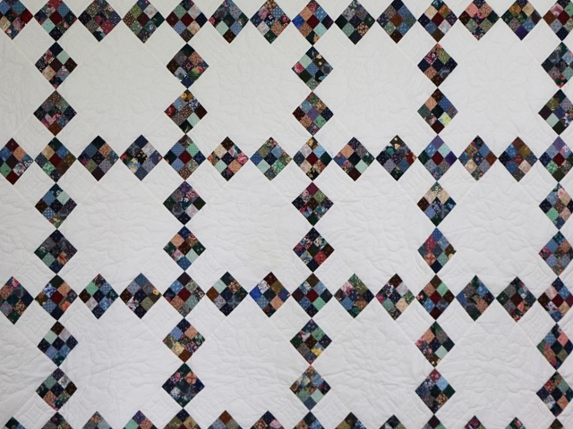 Scrappy Double Nine Patch Quilt Photo 3