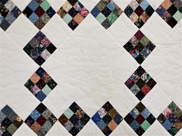 Scrappy Double Nine Patch Quilt Photo 4