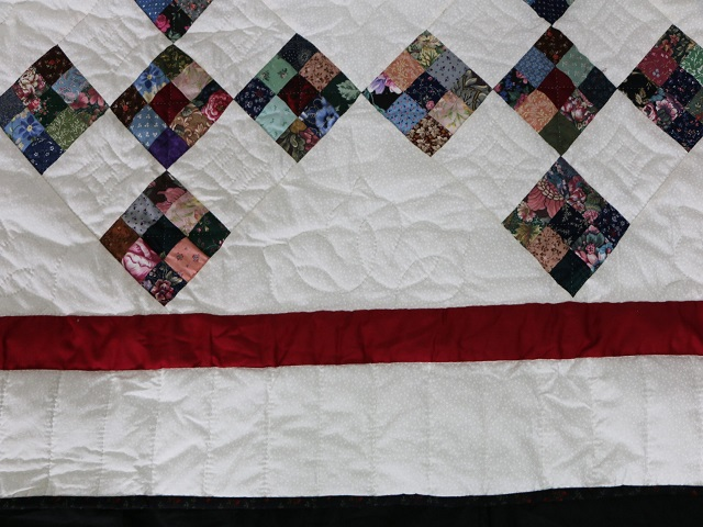 Scrappy Double Nine Patch Quilt Photo 6