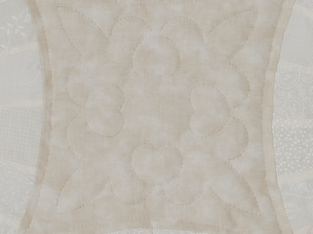 All Neutrals Double Wedding Ring Quilt Queen bed Size Photo 6