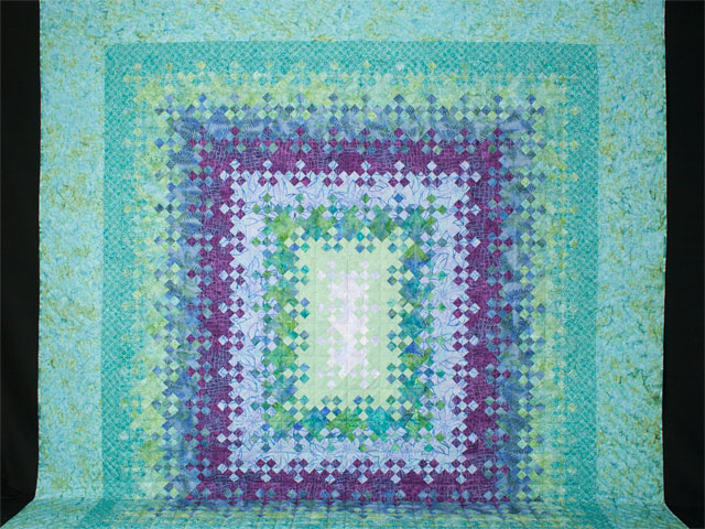 Blooming Nine Patch Queen SIZE  Charming Teals and Purples and colors in between Photo 2