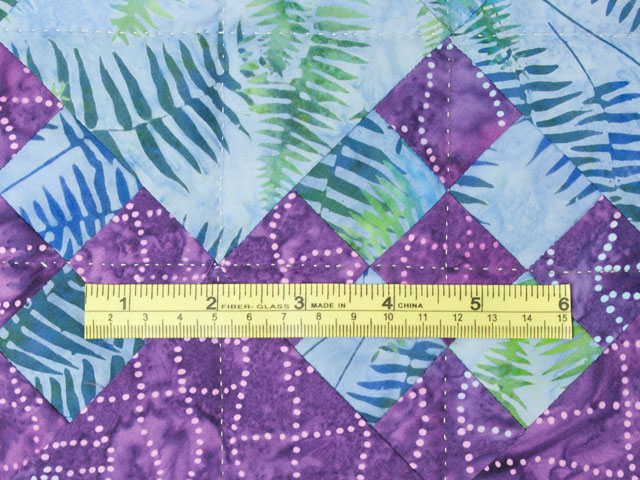 Blooming Nine Patch Queen SIZE  Charming Teals and Purples and colors in between Photo 8