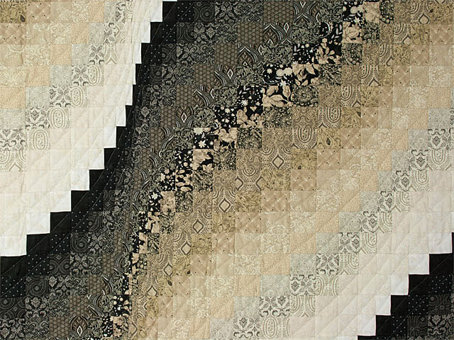 Bargello Wave in Striking Neutrals/tans/and blacks