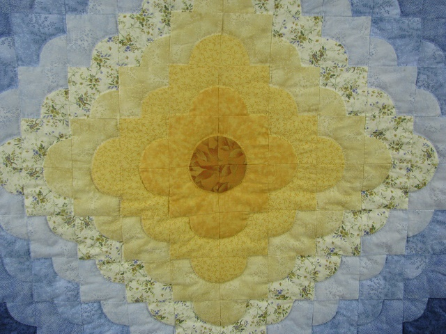 Blue Green and Rose Ocean Wave Quilt Photo 3