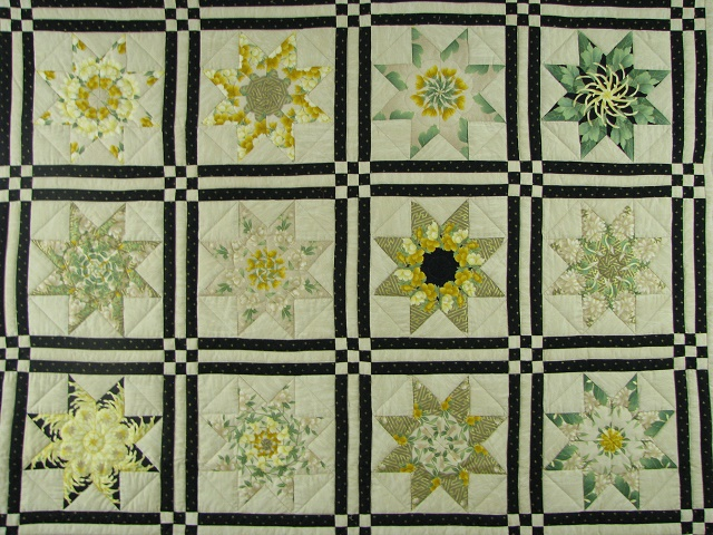Black and Green Stack and Whack Stars Quilt Photo 3
