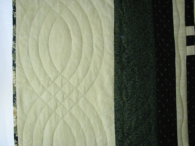 Black and Green Stack and Whack Stars Quilt Photo 4