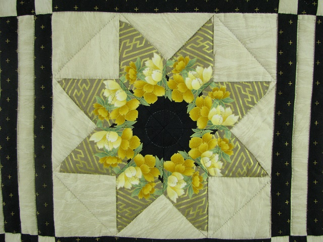 Black and Green Stack and Whack Stars Quilt Photo 8