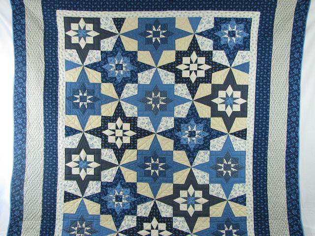 Blue Northern Star Quilt Photo 2