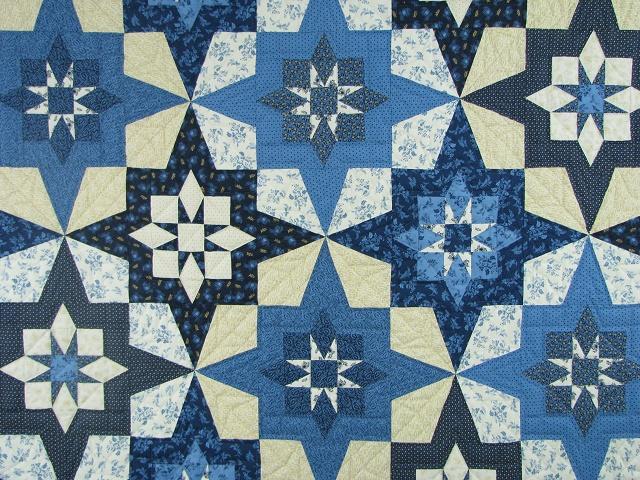 Blue Northern Star Quilt Photo 3