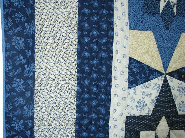 Blue Northern Star Quilt Photo 4