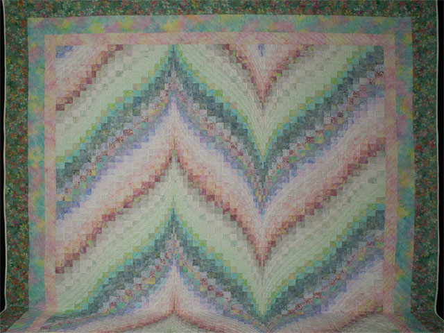 Bargello Flame in Calming Eye Catching Pastels 