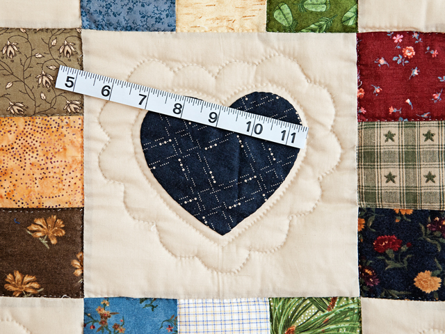 Burgundy Hearts and Nine Patch Quilt Photo 5