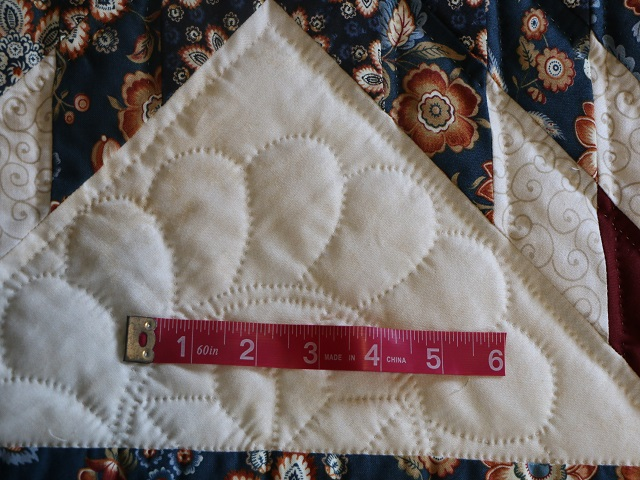 Blue Navy and Burgundy Lone Star Log Cabin Quilt Photo 5