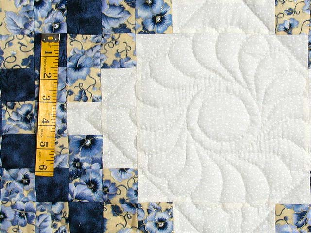 Blue and Yellow Irish Chain Quilt Photo 5