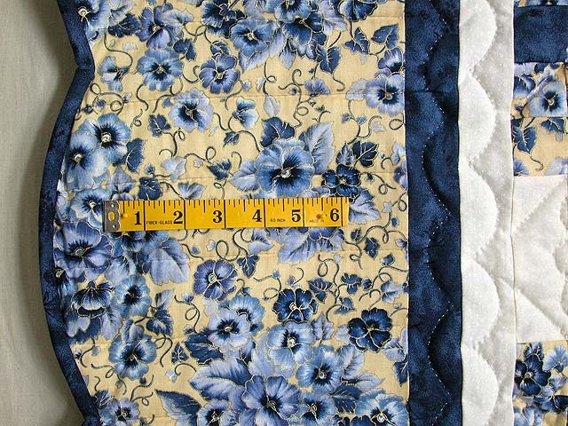 Blue and Yellow Irish Chain Quilt Photo 6