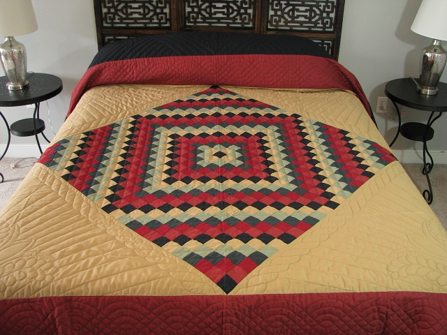 Amish Sunshine Diamond Southwest Colors Quilt Photo 1
