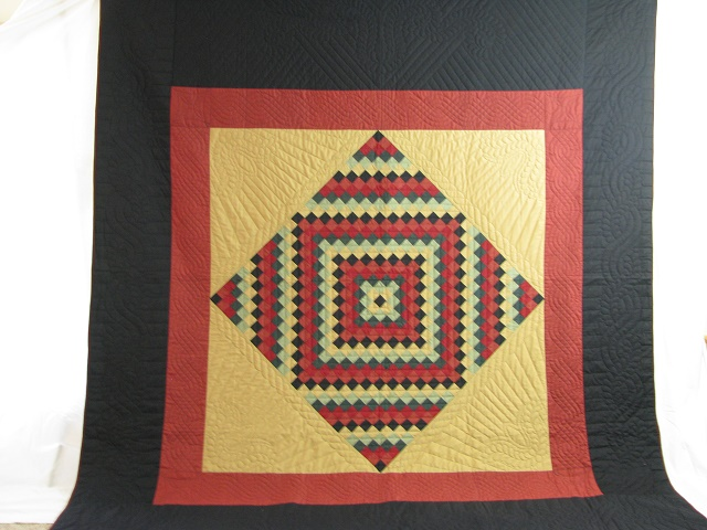 Amish Sunshine Diamond Southwest Colors Quilt Photo 2