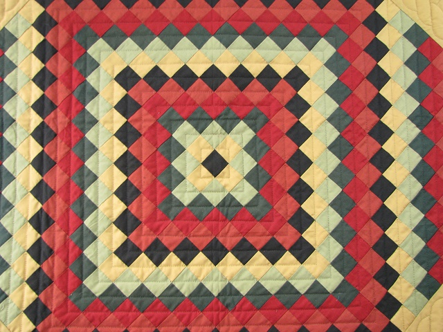 Amish Sunshine Diamond Southwest Colors Quilt Photo 3