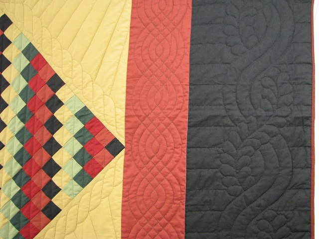 Amish Sunshine Diamond Southwest Colors Quilt Photo 4
