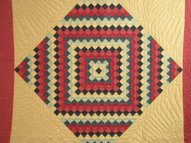 Amish Sunshine Diamond Southwest Colors Quilt Photo 8