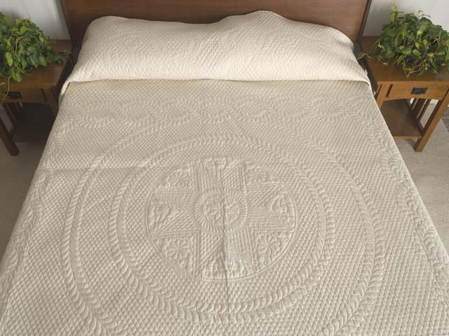 Cream All Quilted Heirloom Quilt Photo 1