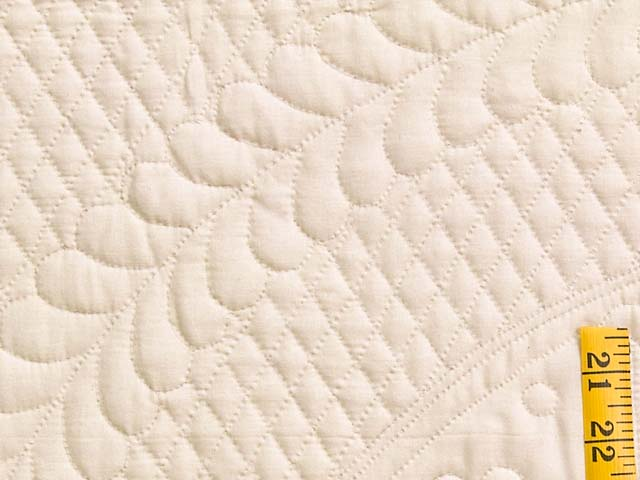 Cream All Quilted Heirloom Quilt Photo 6