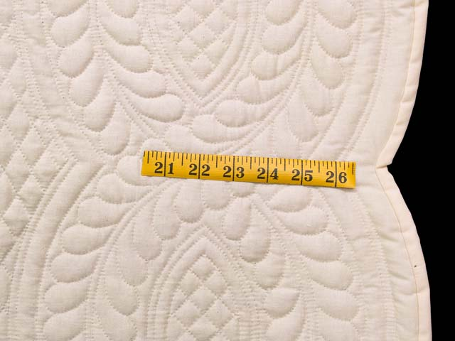 Cream All Quilted Heirloom Quilt Photo 7