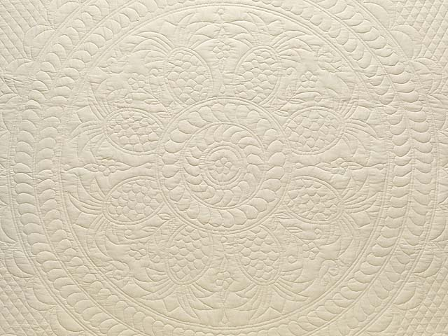 Cream All Quilted Pineapple Quilt Photo 3