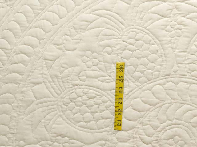 Cream All Quilted Pineapple Quilt Photo 4