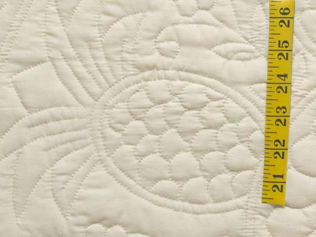 Cream All Quilted Pineapple Quilt Photo 5