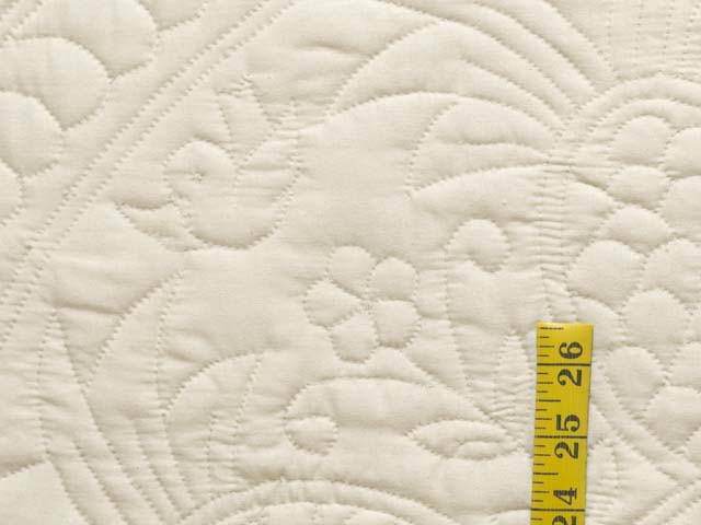 Cream All Quilted Pineapple Quilt Photo 6