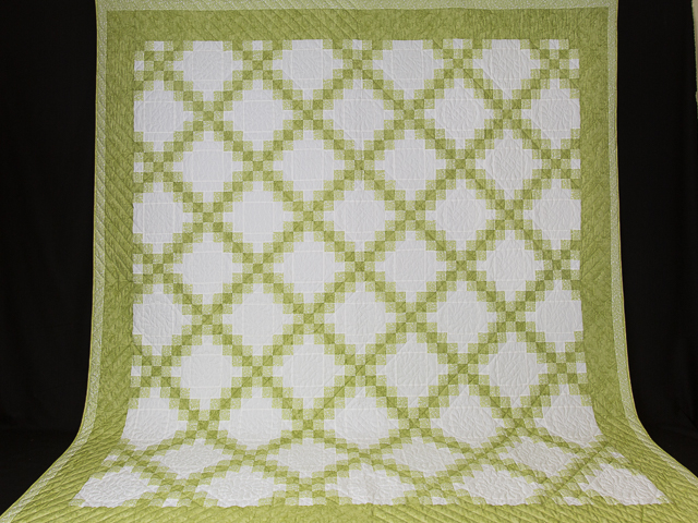 Irish Chain - Greens/white