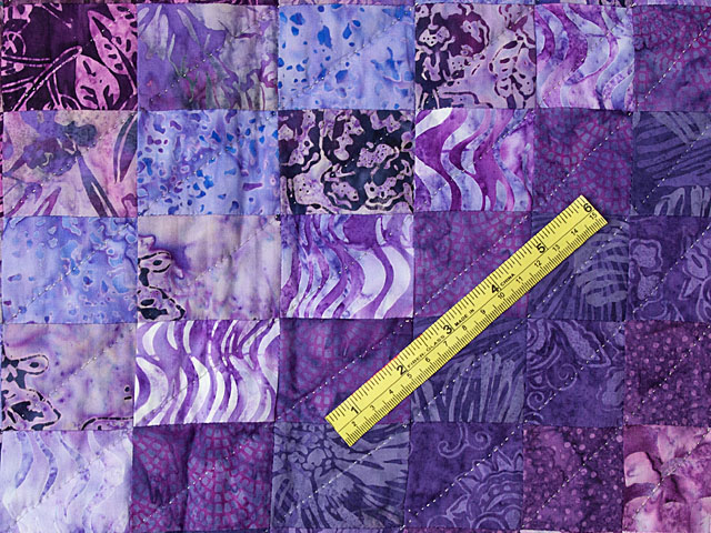 Bargello Flame - Beautiful shades of purple -  batiks